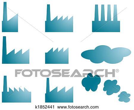 Usine Icones Clipart K1852441 Fotosearch