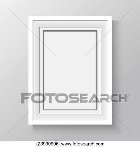 Clip Art - blanco, marco, para, pinturas, o, fotografías, en, el ...