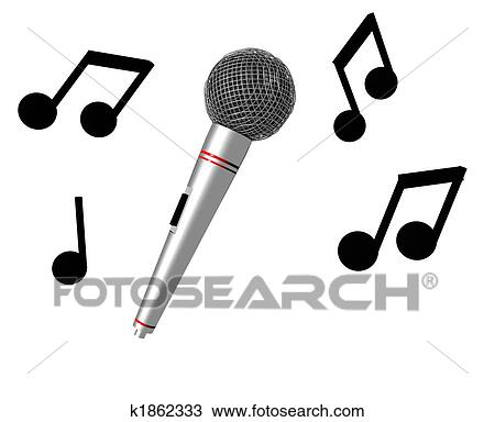 Drawing Of Karaoke Time K1862333 Search Clipart Illustration