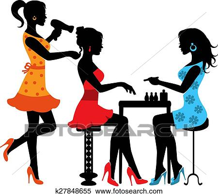 clipart of woman in a beauty salon k27848655 search clip art rh fotosearch com beauty salon clip art beauty salon clipart images