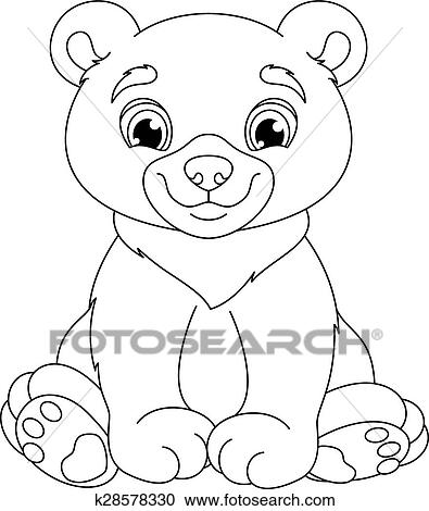 Bear coloring page Clipart | k28578330 | Fotosearch