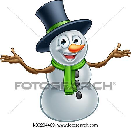 Christmas Pictures Cartoon.Cartoon Christmas Snowman Clip Art