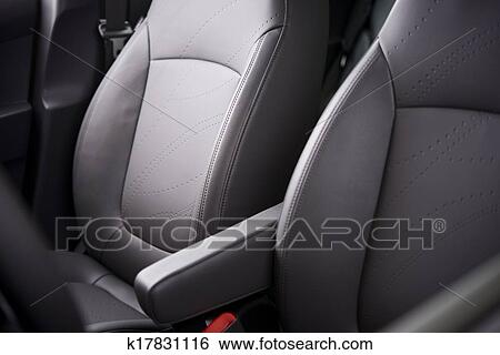 Car Leather Upholstery >> Comfortable Car Seats Stock Photograph K17831116 Fotosearch