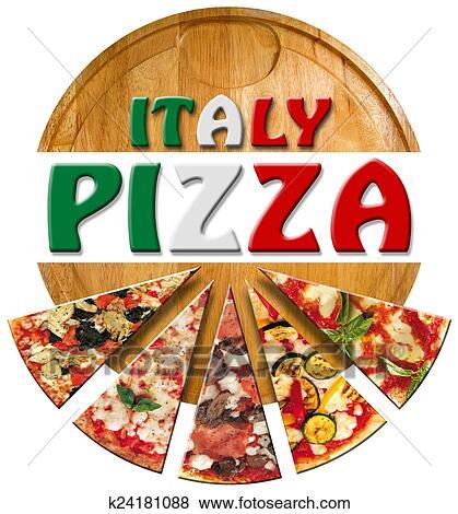italie pizza sur les planche d couper banque d. Black Bedroom Furniture Sets. Home Design Ideas