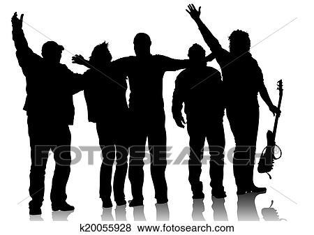 Clip Art Of Music Group K20055928