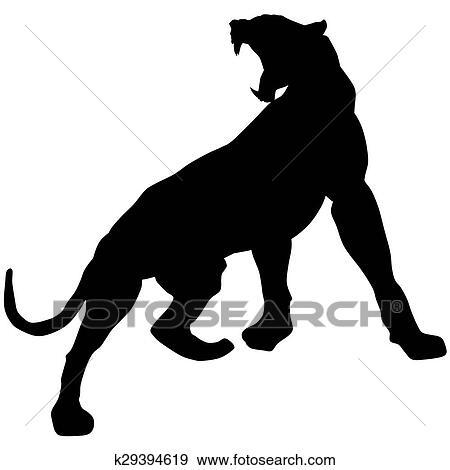 Colección de ilustraciones - pantera negra, roars, loudly k29394619 ...
