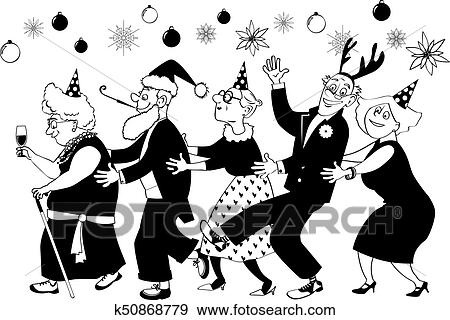 Christmas Party Images Clip Art.Senior Group Christmas Party Clip Art