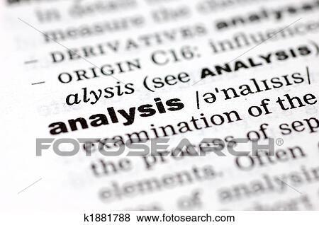 Bilder Definition Von Analyse K1881788 Suche Stockfotos