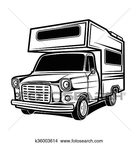 Car Rv Camper Caravan Bus