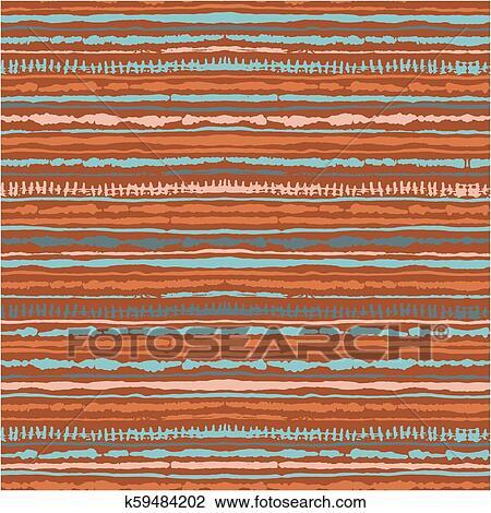Seamless vector shibori tie-dye pattern of warm colours  Hand painting  fabrics - nodular batik Clipart