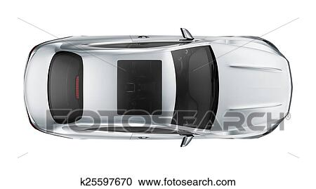 Stock Illustrations Of Sport Coupe Car Top View K25597670 Search
