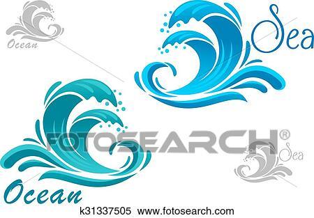 Drops in the Ocean Clip Art