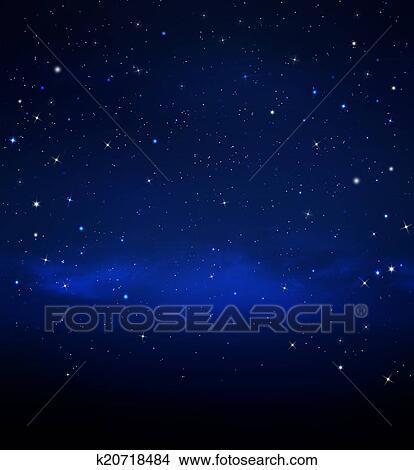 Disegni Cielo Stellato K20718484 Cerca Illustrazioni Clipart