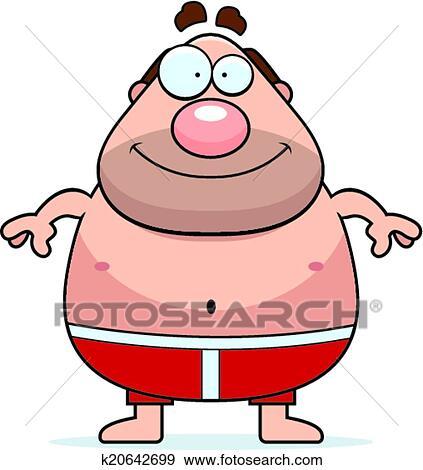 Dessin anim homme maillot de bain clipart k20642699 fotosearch - Dessin de maillot de bain ...