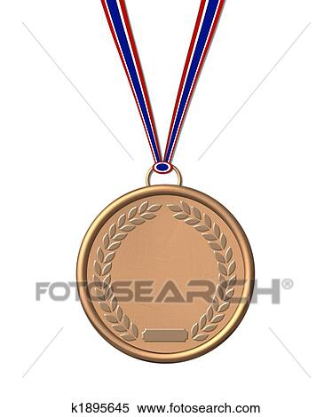 Stock Illustration of isolated bronze medal k1895645 ...