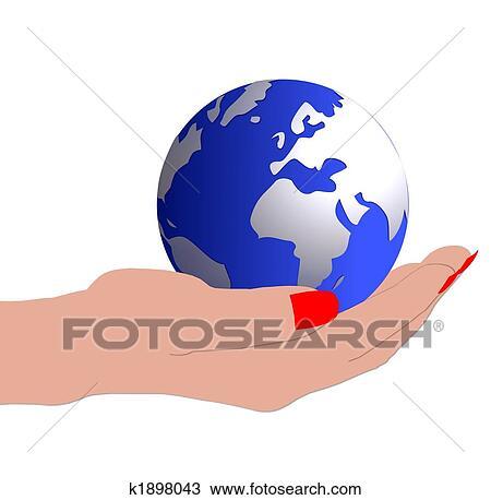 Kresba Koule Do Nas Ruce K1898043 Hledat Klipart Ilustrace