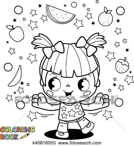 Fein Kleines Mädchen Färbung Seite Zeitgenössisch - Beispiel ...