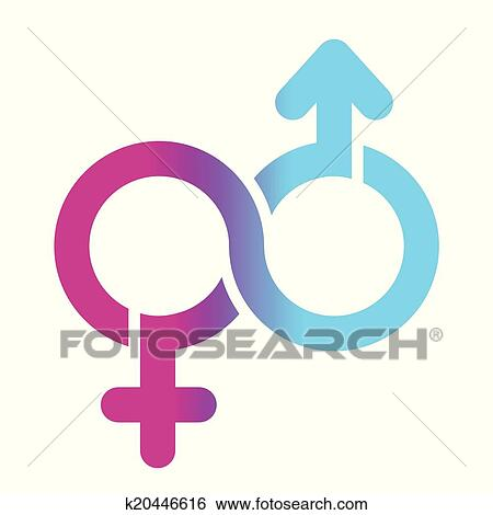 Clip Art Of Male And Female Limitless Symbol K20446616 Search