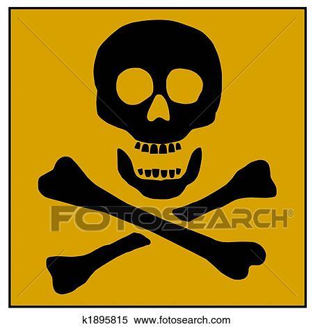 stock illustration of poison warning skull k1895815 search clipart