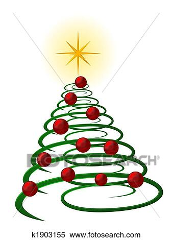 stock illustration of abstract christmas tree k1903155 search