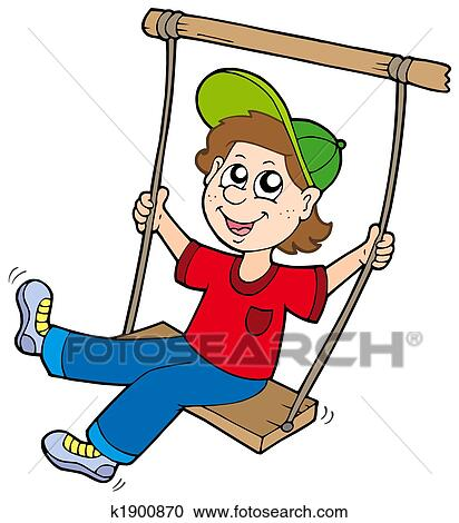 stock illustrations of boy on swing k1900870 search clipart rh fotosearch com sewing clip art free sewing clip art