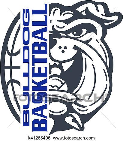 Bulldog basketball Clip Art | k41265496 | Fotosearch