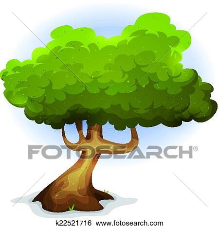 clip art of cartoon funny spring tree k22521716 search clipart rh fotosearch com Point of View Clip Art Graphic Novel Clip Art