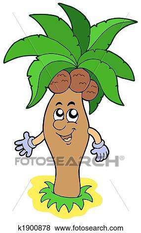 Stock Illustration Of Cartoon Palm Tree K1900878