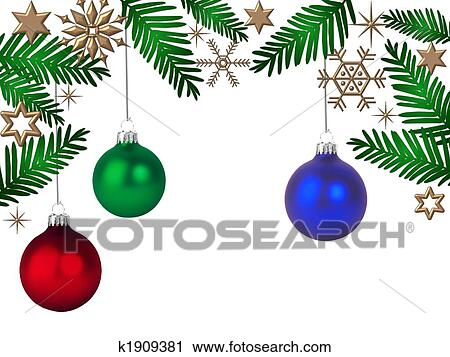 Clipart Of Christmas Ball Ornaments K1909381 Search Clip Art