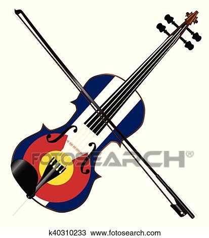 clipart of colorado fiddle k40310233 search clip art illustration rh fotosearch com fiddle clipart free fiddle clipart free