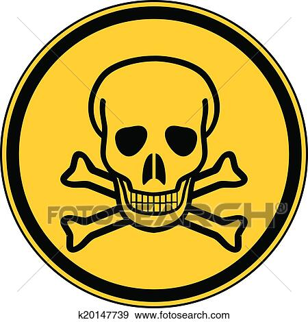 clip art of deadly danger sign k20147739 search clipart rh fotosearch com clipart warning sign clipart warning sign