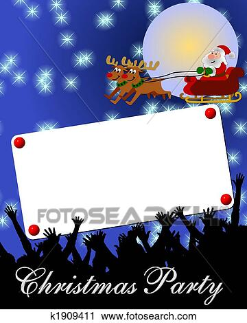 Christmas Card Background.Merry Christmas Card Background Placard Blue Clip Art