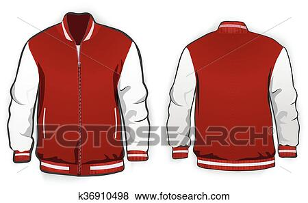 Clip Art Of Sports Or Varsity Jacket Template K36910498 Search
