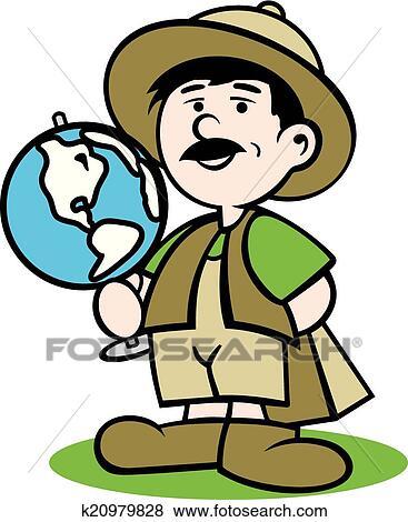 clip art of tourist guide logo k20979828 search clipart rh fotosearch com tacky tourist clipart clipart tourist guide