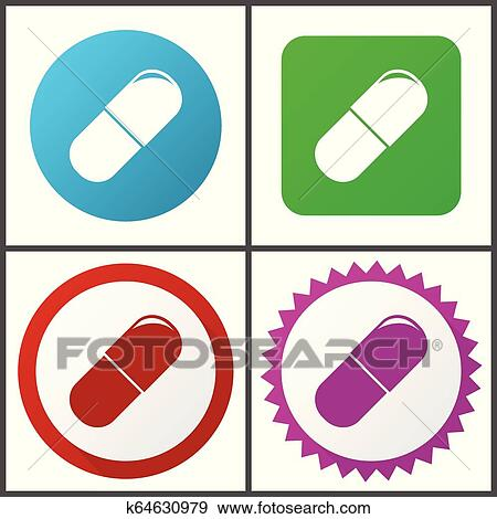 drugs vector icon set flat design web icons in eps 10 colorful internet buttons in four versions clip art k64630979 fotosearch https www fotosearch co nz csp192 k64630979