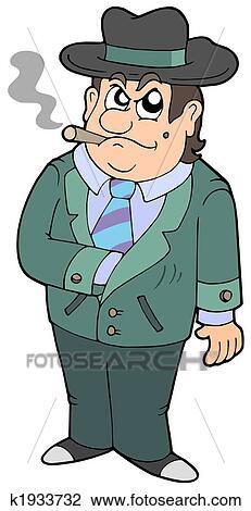 Clip Art Of Cartoon Gangster K1933732 Search Clipart Illustration
