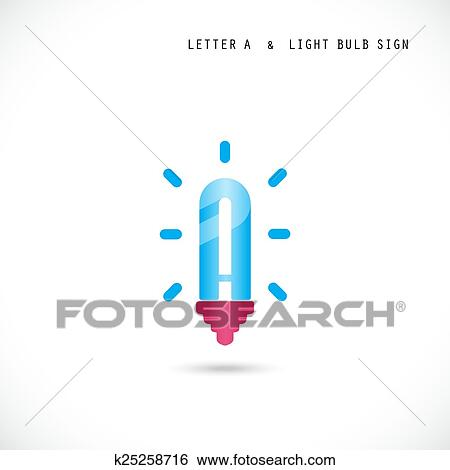 Creative Letter A Icon Abstract Logo Design Vector Template With Creative Light Bulb Symbol Clip Art K25258716 Fotosearch