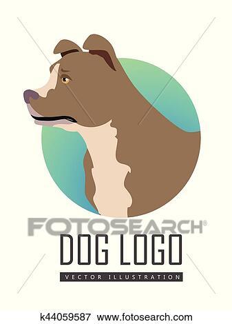 Bullmastiff cane logotipo bianco fondo clip art k