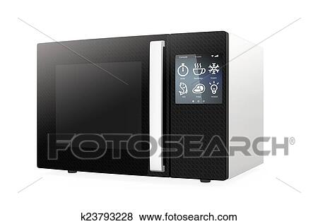 Microwave Oven With Touch Screen Stock