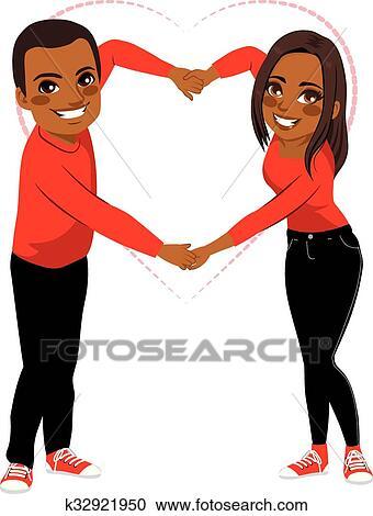 Dessin Amoureux Mignon clipart - mignon, couple, amour, bras, forme k32921950 - recherchez