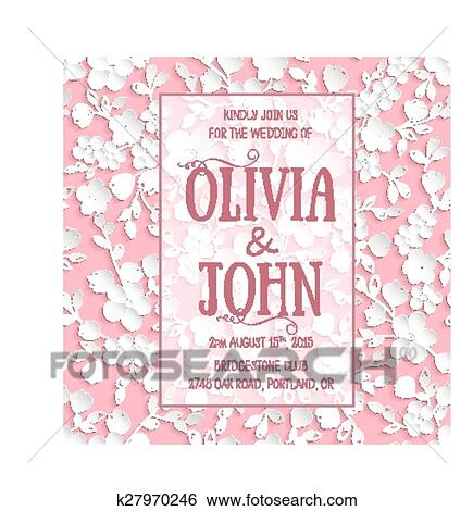 Wedding Invitation Card Vector Invitation Card With Sakura