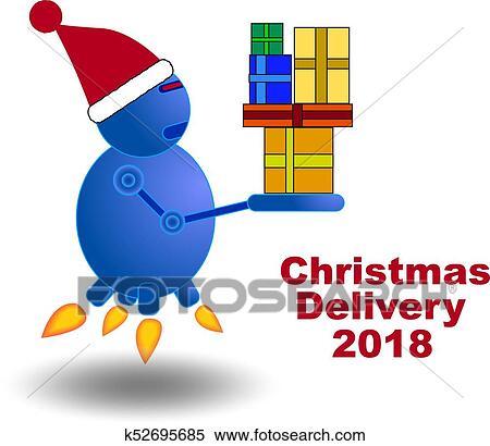 Weihnachtsgeschenke Clipart.Weihnachtsgeschenke Auslieferung Fantasie Clipart