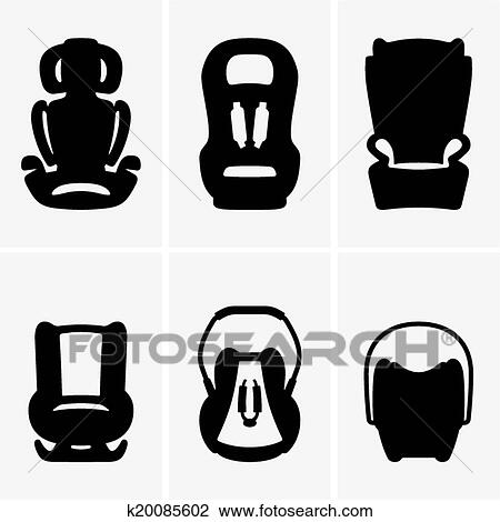 Clipart Of Baby Car Seats K20085602