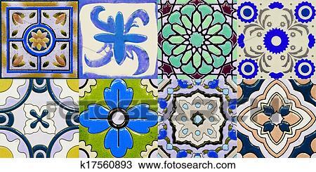 Carreaux Céramique Motifs Depuis Portugal Dessin