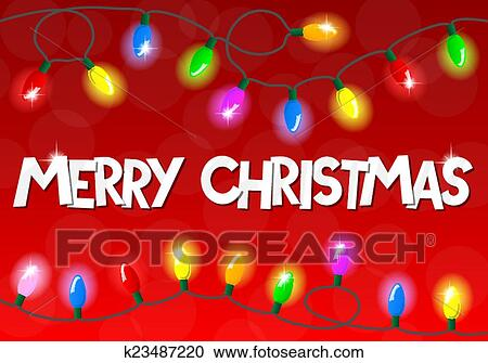 Christmas Chain Clipart.Chain Of Christmas Lights Clipart