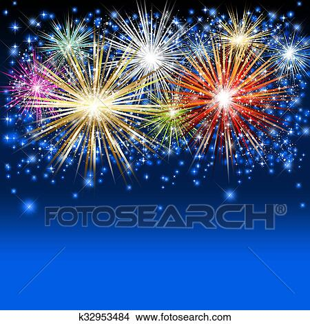 drawings of fireworks background k32953484 search clip art