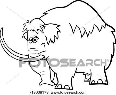 Clipart - mammut, karikatur, färbung, seite k18608173 - Suche Clip ...
