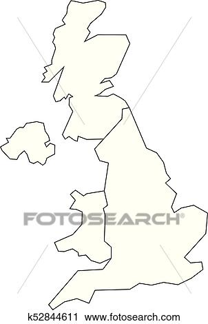 Blank Map Of England Scotland And Wales.Map Of United Kingdom Countries England Wales Scotland