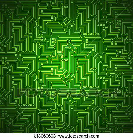Clipart of Shining Printed Circuit Board k18060603 - Search Clip Art ...