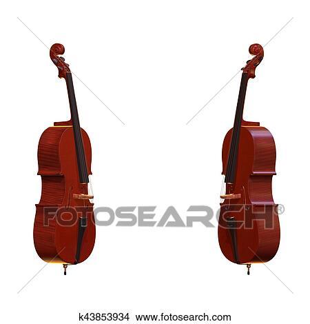 Cello Instrumento Musical 3d Ilustracao Arquivos De Ilustracao
